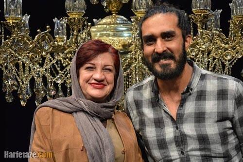 ناهید مسلمی و همسرش