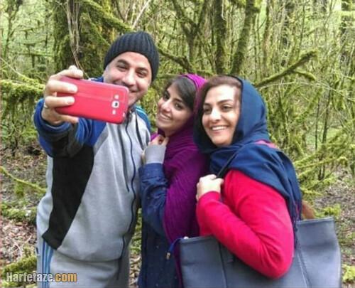 صبا سلیمانی در کنار پدر و مادرش