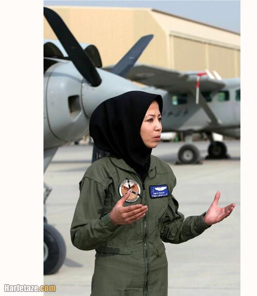 بیوگرافی صفیه فیروزی خلبان افغانی و همسرش
