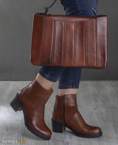 ست کیف کفش چرم زنانه 1400