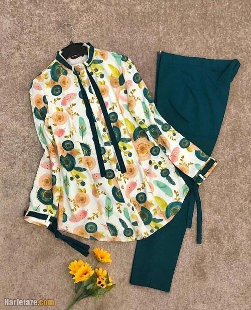 ست پیراهن و شلوار تابستانی 1400