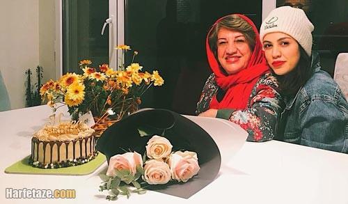 شیدا خلیق و مادرش ناهید مسلمی