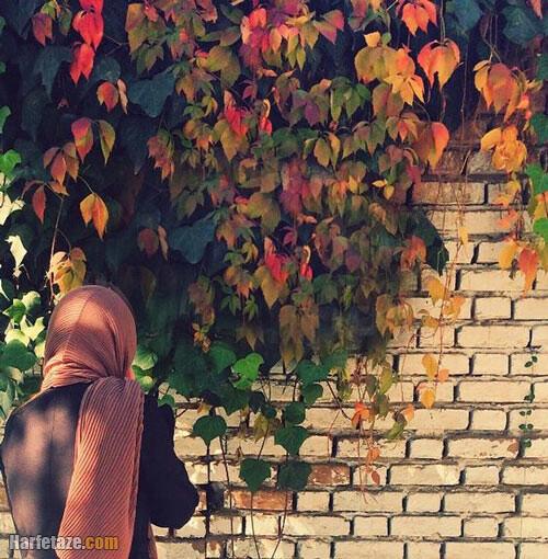 عکس دختر در پاییز