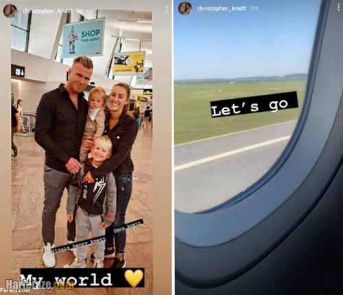 عکس های جدید کریستوفر نت دروازه بان فوتبال و همسر و فرزندانش