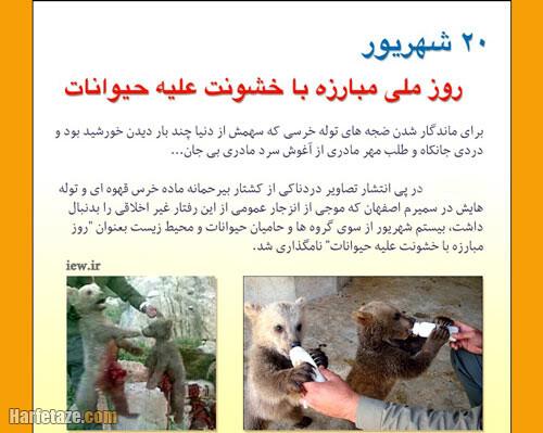 عکس نوشته روز مبارزه با خشونت علیه حیوانات