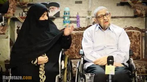 حیدر رحیم پور ازغدی و همسرش