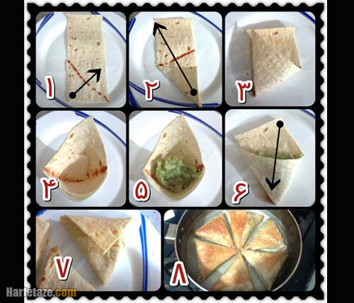 طرز پخت سمبوسه و طرز پیچیدن آن
