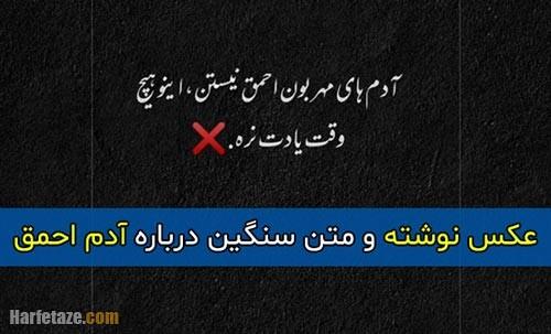 متن تیکه سنگین درباره آدم احمق + عکس پروفایل و عکس نوشته با موضوع حماقت