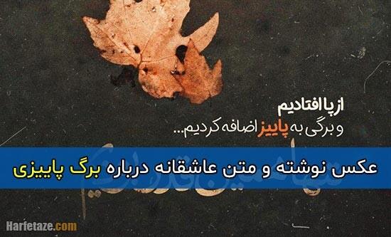 متن عاشقانه درباره برگ پاییزی + عکس پروفایل و عکس نوشته با موضوع برگ پاییزی