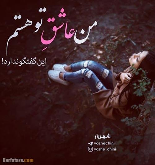 عکس نوشته اشعار شهریار