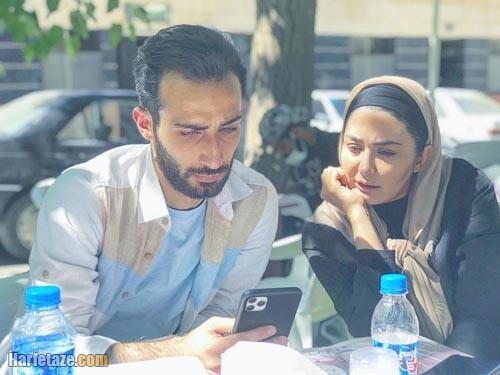 مهران ضیغمی و همسرش