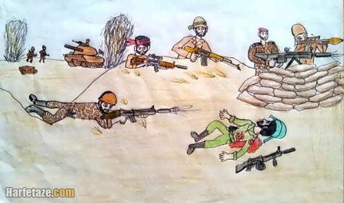نقاشی دفاع مقدس برای بچه ها