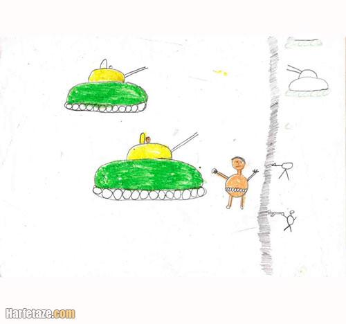عکسی از نمونه نقاشی بچه ها درباره هفته دفاع مقدس