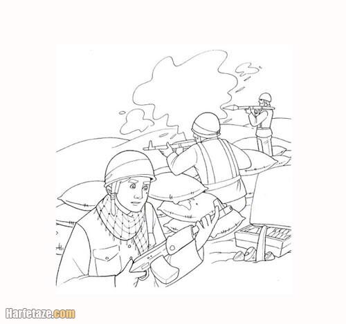 ایده نقاشی دفاع مقدس برای مسابقه نقاشی