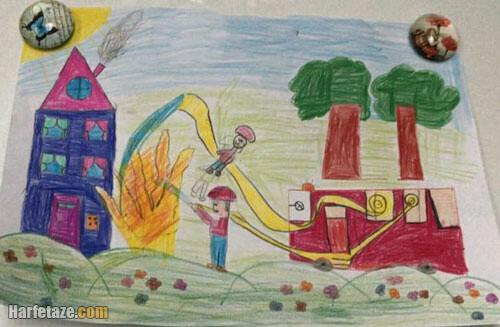 نمونه رنگ آمیزی ماشین آتش نشانی