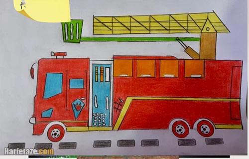 نقاشی آتش نشان برای کودکان