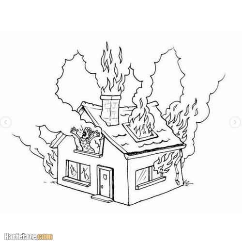 دانلود نقاشی آتش نشان برای رنگ امیزی با کیفیت عالی