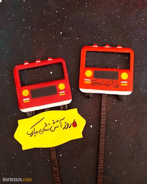دانلود عکس ماشین آتش نشان برای رنگ کردن بچه ها
