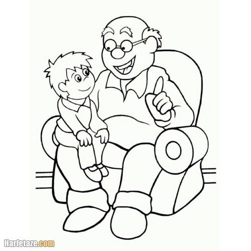 نقاشی برای پدر بزرگ در روز سالمند