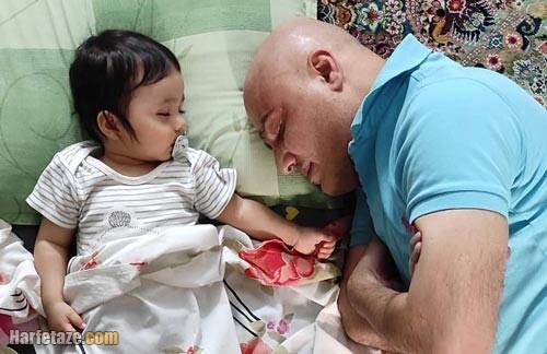 عکس جدید سعید داخ و دخترش