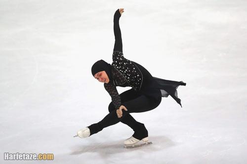 مسابقات رقص روی یخ زهرا لاری