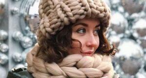 مدل کلاه و شال گردن ۲۰۲۲ بافتنی جدید اسپرت – زنانه