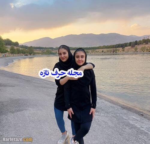عکس های غزاله حسینی وزنه بردار و خواهرش غزل