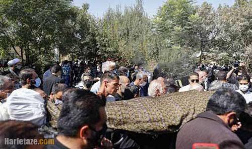 مراسم تشییع جنازه و خاکسپاری عزت الله مهرآوران