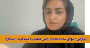 بیوگرافی و سوابق سعیده محمدی وکیل مشهدی + خانواده و اینستاگرام