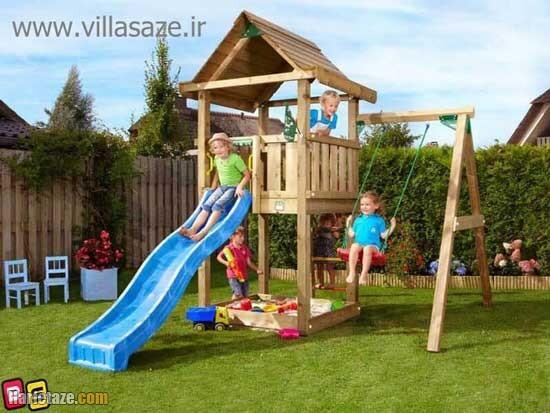 ساخت زمین بازی در ویلا